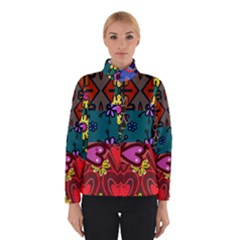 Digitally Created Abstract Patchwork Collage Pattern Winterwear