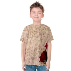 Retro Background Scrapbooking Paper Kids  Cotton Tee
