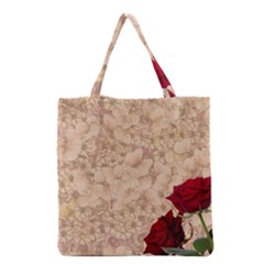 Retro Background Scrapbooking Paper Grocery Tote Bag