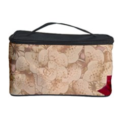 Retro Background Scrapbooking Paper Cosmetic Storage Case