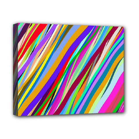 Multi Color Tangled Ribbons Background Wallpaper Canvas 10  X 8