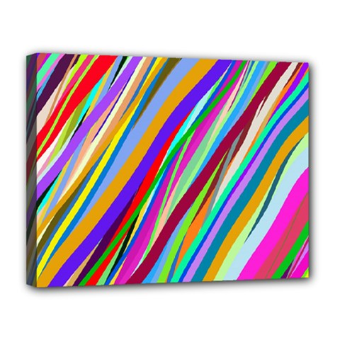 Multi Color Tangled Ribbons Background Wallpaper Canvas 14  x 11