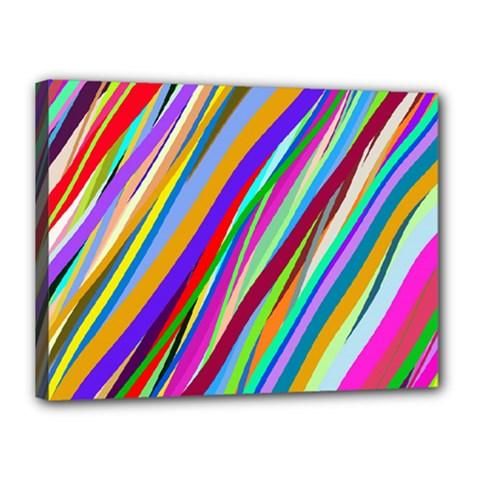 Multi Color Tangled Ribbons Background Wallpaper Canvas 16  X 12