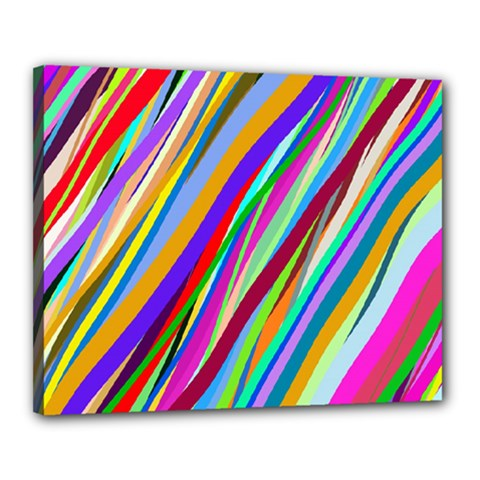 Multi Color Tangled Ribbons Background Wallpaper Canvas 20  X 16