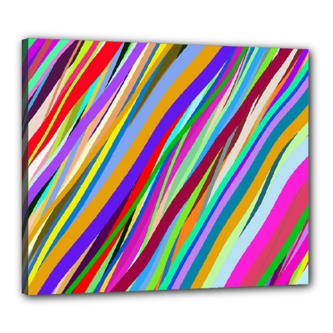 Multi Color Tangled Ribbons Background Wallpaper Canvas 24  X 20