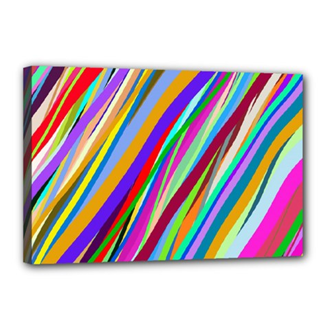 Multi Color Tangled Ribbons Background Wallpaper Canvas 18  x 12