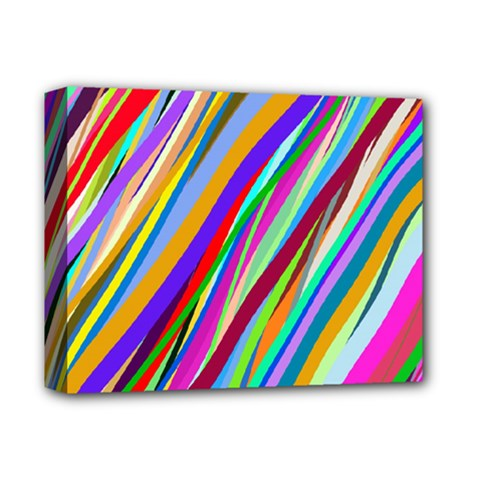 Multi Color Tangled Ribbons Background Wallpaper Deluxe Canvas 14  X 11