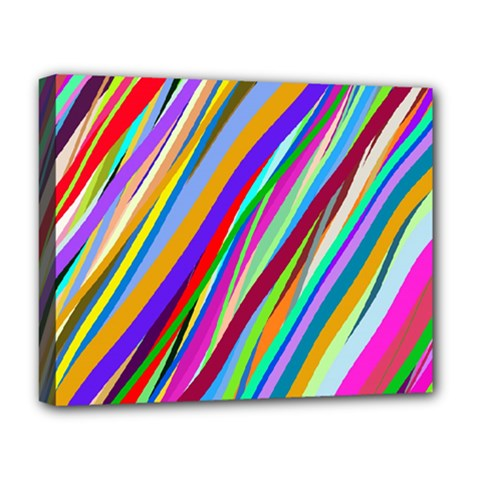 Multi Color Tangled Ribbons Background Wallpaper Deluxe Canvas 20  X 16