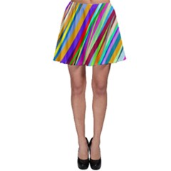 Multi Color Tangled Ribbons Background Wallpaper Skater Skirt