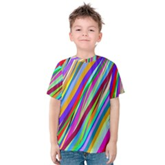 Multi Color Tangled Ribbons Background Wallpaper Kids  Cotton Tee