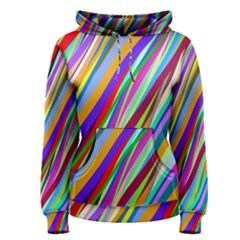 Multi Color Tangled Ribbons Background Wallpaper Women s Pullover Hoodie