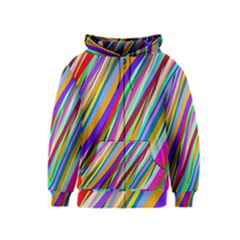 Multi Color Tangled Ribbons Background Wallpaper Kids  Zipper Hoodie