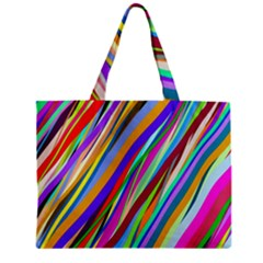 Multi Color Tangled Ribbons Background Wallpaper Zipper Mini Tote Bag