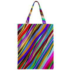 Multi Color Tangled Ribbons Background Wallpaper Zipper Classic Tote Bag