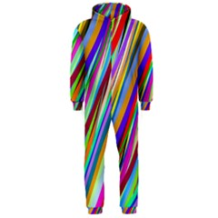 Multi Color Tangled Ribbons Background Wallpaper Hooded Jumpsuit (men)