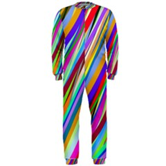 Multi Color Tangled Ribbons Background Wallpaper Onepiece Jumpsuit (men)