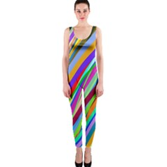 Multi Color Tangled Ribbons Background Wallpaper Onepiece Catsuit