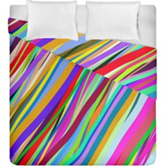 Multi Color Tangled Ribbons Background Wallpaper Duvet Cover Double Side (king Size)