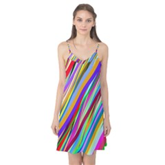 Multi Color Tangled Ribbons Background Wallpaper Camis Nightgown