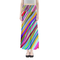 Multi Color Tangled Ribbons Background Wallpaper Maxi Skirts