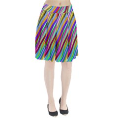 Multi Color Tangled Ribbons Background Wallpaper Pleated Skirt