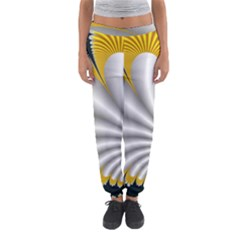 Fractal Gold Palm Tree On Black Background Women s Jogger Sweatpants