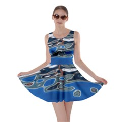 Colorful Reflections In Water Skater Dress
