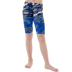 Colorful Reflections In Water Kids  Mid Length Swim Shorts