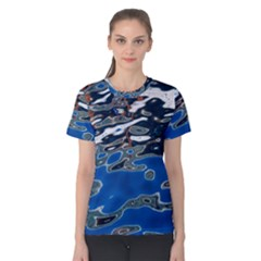 Colorful Reflections In Water Women s Cotton Tee