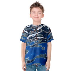 Colorful Reflections In Water Kids  Cotton Tee