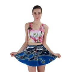 Colorful Reflections In Water Mini Skirt