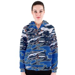 Colorful Reflections In Water Women s Zipper Hoodie
