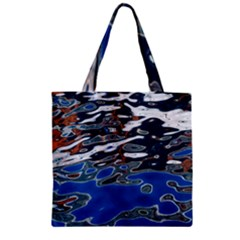 Colorful Reflections In Water Zipper Grocery Tote Bag