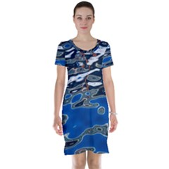 Colorful Reflections In Water Short Sleeve Nightdress