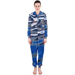 Colorful Reflections In Water Hooded Jumpsuit (ladies)