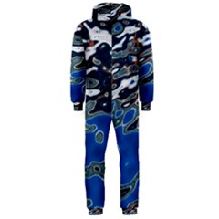 Colorful Reflections In Water Hooded Jumpsuit (men)