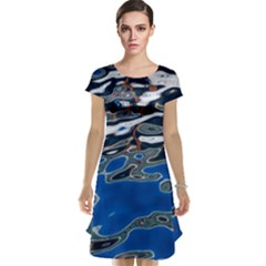 Colorful Reflections In Water Cap Sleeve Nightdress