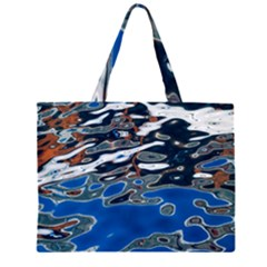 Colorful Reflections In Water Large Tote Bag