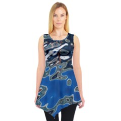 Colorful Reflections In Water Sleeveless Tunic