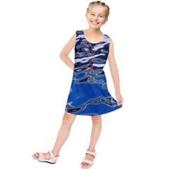 Colorful Reflections In Water Kids  Tunic Dress
