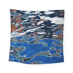 Colorful Reflections In Water Square Tapestry (small)