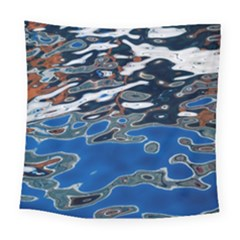 Colorful Reflections In Water Square Tapestry (large)