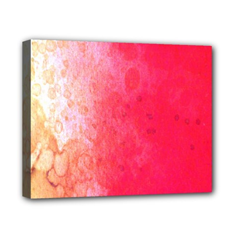 Abstract Red And Gold Ink Blot Gradient Canvas 10  X 8