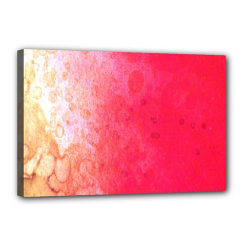 Abstract Red And Gold Ink Blot Gradient Canvas 18  X 12