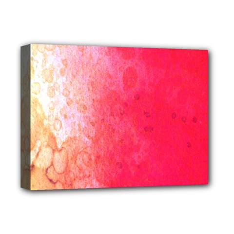 Abstract Red And Gold Ink Blot Gradient Deluxe Canvas 16  X 12