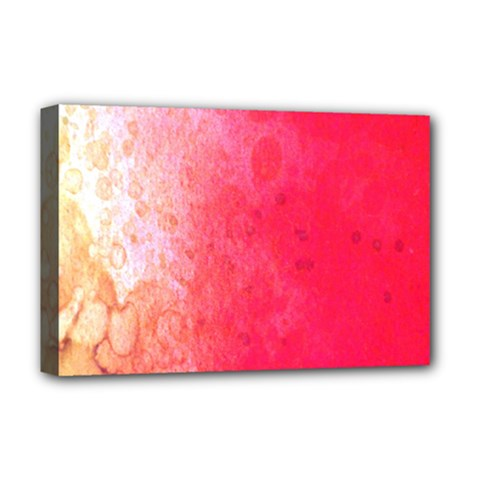 Abstract Red And Gold Ink Blot Gradient Deluxe Canvas 18  X 12