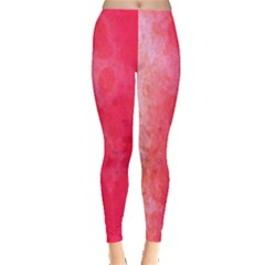 Abstract Red And Gold Ink Blot Gradient Leggings