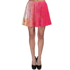 Abstract Red And Gold Ink Blot Gradient Skater Skirt