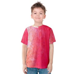 Abstract Red And Gold Ink Blot Gradient Kids  Cotton Tee