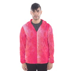 Abstract Red And Gold Ink Blot Gradient Hooded Wind Breaker (men)